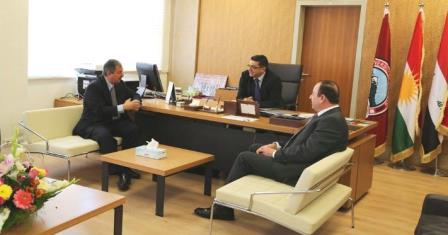 Komar University of Science and Technology officials visited University of Sulaimani