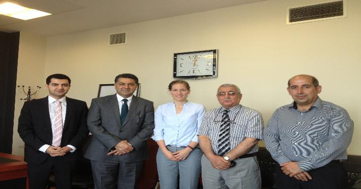 President of Sulaimani University,welcomed the Director of DAAD Information Center in Kurdistan