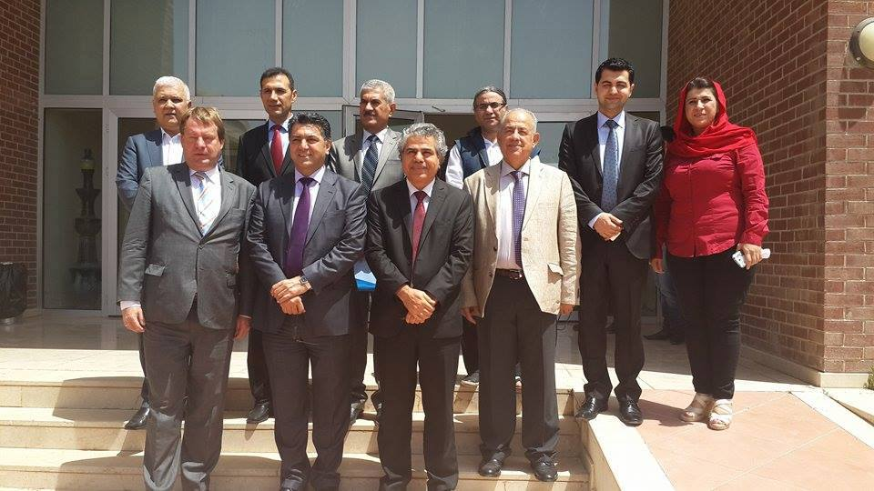 The Consul - General of the Federal Republic of Germany visited School of Fine Arts / University of Sulaimani