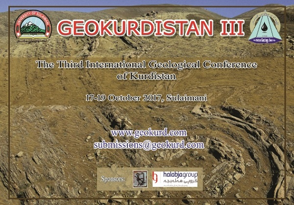 The Third International Geological Conference of Kurdistan (Octobar 17-19, 2017)